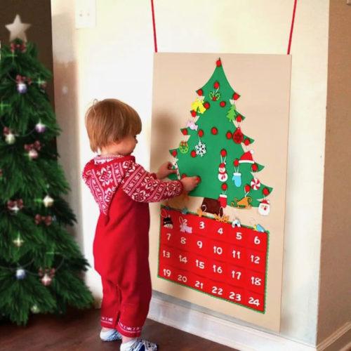 クリスマスツリー型アドベントカレンダー使用画像